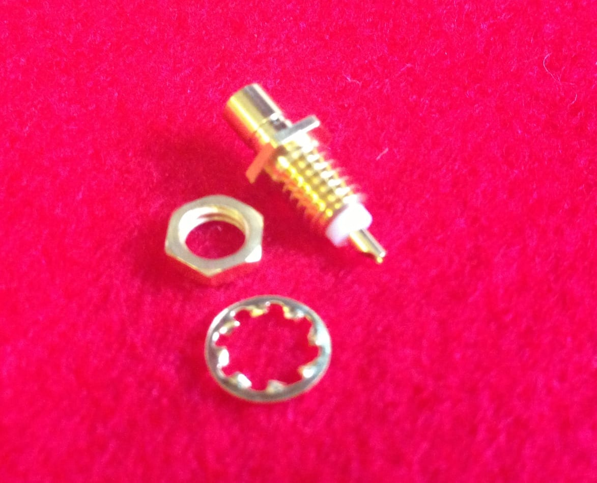 SMB Straight Male Chassis Jack Receptacle  Image