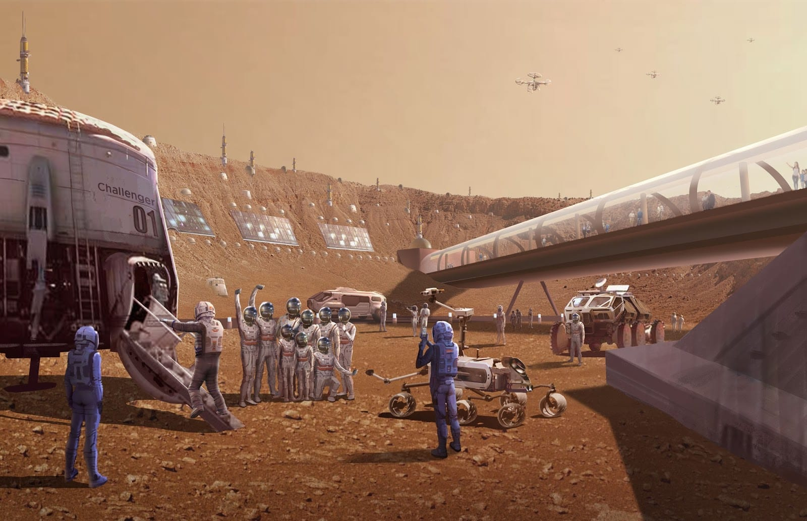 martian helicopters human colonies and drilling for - HD1600×1034