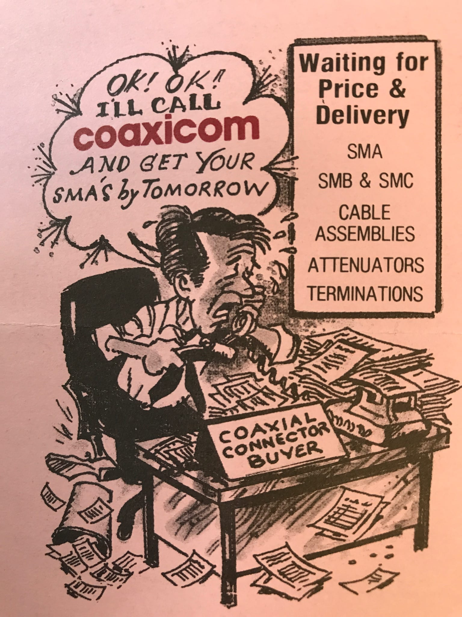 Coaxicom Advertising Creative for SMA Connectors
