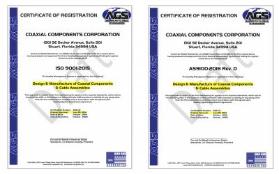 ISO Certification Coaxicom